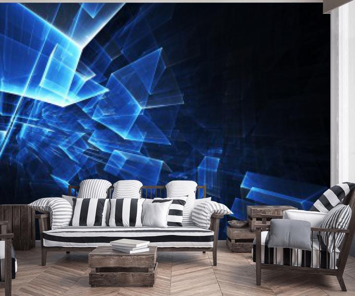 Tapeta 3D kostki do salonu / Tapety 3D na wymiar Wrocław House