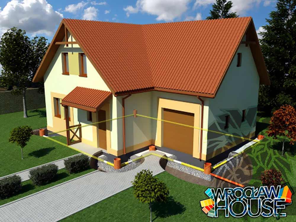Drenaż opaskowy / instalacja odwodnienie domu