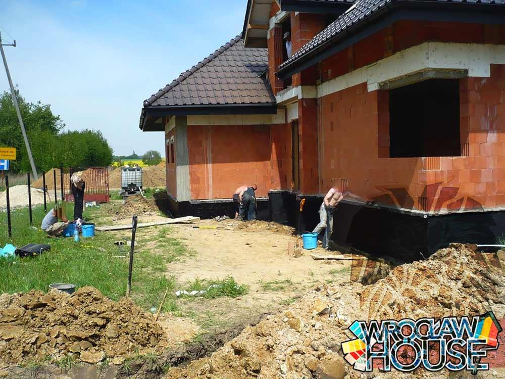 Budowa domu / odwodnienie - instalacja - drenaż opaskowy